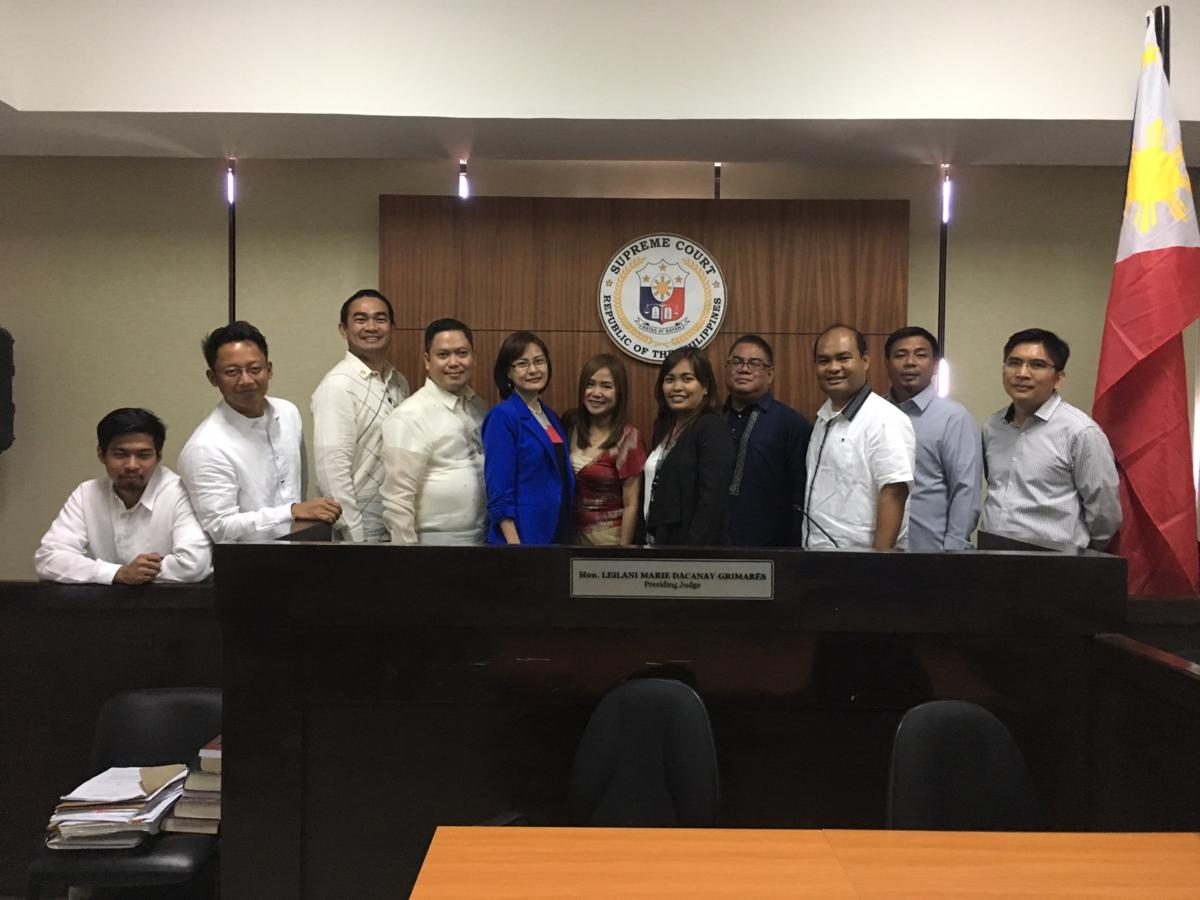 IBP-PPLM Courtesy Call on Paranaque Metropolitan Trial Court Executive Judge Leilani Marie D. Grimares