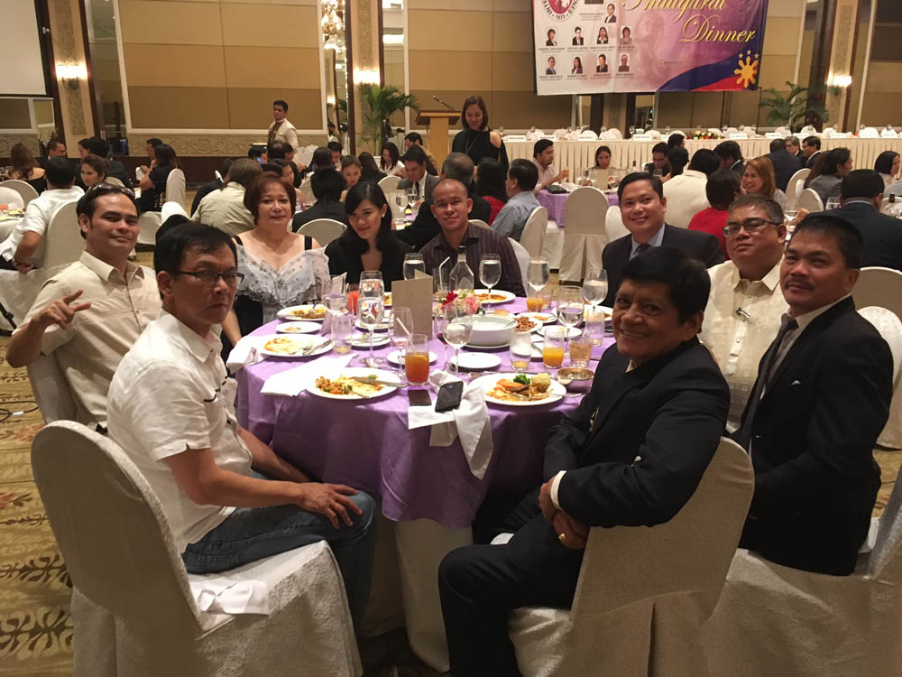 IBP-PPLM President Paul Jomar Alcudia and Vice-President Florante Legaspi Jr at the IBP Inaugural Dinner